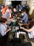 move to the next typewriter